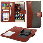 For Elephone P6000 Pro - Clip On Double Fibre Book Wallet Case Cover