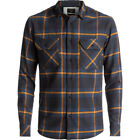 Quiksilver Fitz Forktail Mens Shirt Long Sleeve - Tarmac All Sizes