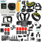 GoPro HERO 4 Silver Edition Touchscreen Camera + 40 Pcs Extreme Sports Accessory