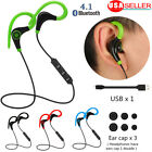 Bluetooth Headphone Wireless Earphone Sport Running Stereo Headset With Mic US