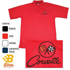 C2 Corvette Embroidered Men's Performance Polo Shirt BDC2EP103