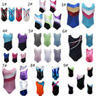 USA Children Kids Girls Gymnastics Leotards Sleeveless Ballet Dance Bodysuits