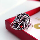 Large Biker Ring Stainless Steel Dragons Goth Punk Rock