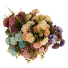 2 Bunches Artificial Hydrangea Chrysanthemum Silk Flower Bouquet Decor 6 Colors