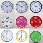 Modern 7 Colour Wall Clock Plastic Roman Number Home Office Hotel beautify Decor