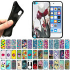 For Apple iPod Touch 5 5th/ 6 6th Gen TPU Black Silicone Case Protector Cover