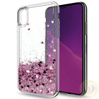 For iPhone X, 8 7 Case Cute Glitter Liquid Quicksand Clear TPU Protective Cover