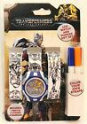 LCD Watch & Marker Gift Set Color Your Watch Avengers, Transformers, Spider-man