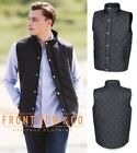Front Row Mens Diamond Quilted Gilet Body Warmer - Shower proof Fabric