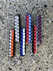 Paracord Keyring Any Custom Colours Stocking Filler Football Key Tag
