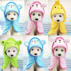 Soft Pet Dog Cat Cartoon Animal Bathrobes Bath Towel Puppy Cat Washing