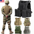 Tactical Airsoft Paintball MOLLE Plate Carrier Combat Play Hunting Military Vest