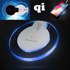 Clear Qi Wireless Fast Charger Charging Pad Samsung Galaxy Note 8 S8+ iPhone X 8