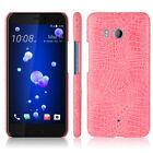 Crocodile PU leather hard back shell case SKIN cover For HTC