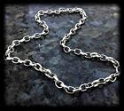 SOLID SILVER OVAL ENGLISH BELCHER CHAIN HALLMARKED WITH TRIGGER CLASP B500 T2