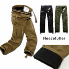 Neu Herren Thermohose Cargo Fleecefutter Winter Hose Fleece Warm Gefüttert Pants