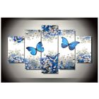 5pcs Canvas Flowers Butterfly Modern Abstract Print Painting Art Home Wall Decor