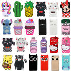 For Samsung Galaxy Note 8 Phone 3D Case Cover Cute Cartoon Animals Soft Silicone