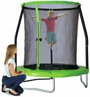 Chad Valley 6ft Outdoor Kids Trampoline with Enclosure - Green