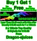 E Liquid Refill E-Juice 40 + Vaping Flavours  50Vg / 50Pg BUY 1 GET 1 FREE AAA