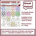 SPLIT KEY RING DOUBLE LOOP CRAFTS FINDINGS KEYRINGS - VARIOUS COLOURS & SHAPES