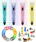 3D Printing Drawing Pen Crafting Modeling PLA Arts Doodle Printer+Color Filament