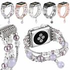 Agate Strap Pearl Beads Bracelet Watch Band For 42 38mm Apple Watch Series 1 2 3
