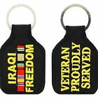 IRAQI FREEDOM VETERAN PROUDLY SERVED WITH CAMPAIGN RIBBONS KEY CHAIN OIF IRAQ