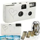 Pack of 5/10 Hearts Disposable Camera with Flash 36exp for Bridal Wedding Party