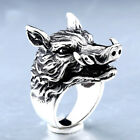 Punk Good Detail 316L Stainless Steel Rhino Ring Fashion Hop  3D Jewelry For Men
