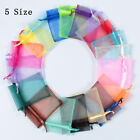 5 Size 100Pcs Organza Wedding Party Favor Decor Gift Candy Sheer Bags Pouches