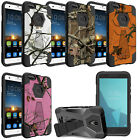 Case for [ZTE Blade X Z965 ], Dual Layer Combat Kickstand Cover with Camo Tree