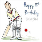 Cricket Happy Birthday Card, Personalised Any Age & Name / Boys Mens Teenager