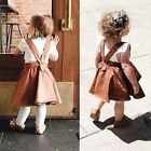 Внешний вид - Toddler Infant Kid Baby Girl Suspender Skirt Overalls Dress Outfit Clothes 0-3Y