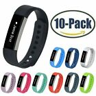 10-Pack Replacement Silicone Rubber Wristband Strap Watch Band for Fitbit Alta