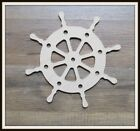 "Wooden 6"" Ship Wheel Craft Project Nautical Theme Room Decor Unfinished Wood"