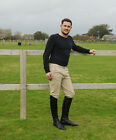 NEW Rhinegold Traditionally Styled Mens Horse Riding Breeches Beige Black Navy