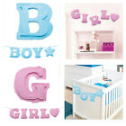 Baby Boy / Girl Paper Letter Garland Banner Baby Shower Gender Reveal It's a..
