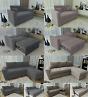 Ravena Stanford 2 Seat L Shape Pull Out Sofa Bed Living Room Lounge Fabric Sofa