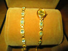 SOVERIGN 9CT GOLD+TOPAZ WRISTWATCH & MATCHING BRACELET SET BOXED