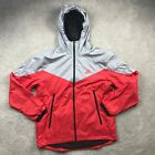 Nike Packable Windrunner Full Zip Jacket Grey Red Black 917809-013 Men's XL-XXL