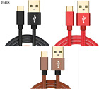LEATHER FAST CHARGE 2.4A USB-C 3.1 Type C Charger Cable Adapter Lead...