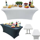 6/8Ft Spandex Stretch Table Cloth Desk Cover Fitted Wedding