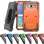 Armor Shockproof Stand Rugged Clip Holster Case Cover For Samsung Galaxy J7 Neo