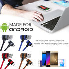 1m 2.4A Android Micro Dual Elbow Connector Ring Braided Data Cable Fast Charging