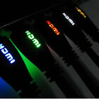 BRAIDED 4K ULTRA HD HDMI LED Cable BLUE RED WHITE GREEN YELLOW 1m 2m 3m 5m