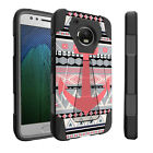 For Motorola Moto E4 | Dual Layer Combat Kickstand Cover Shockproof Case