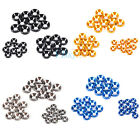 10X M3 M4 M5 Anodized Countersunk Head Washers Gasket Aluminum Alloy Colorful ES
