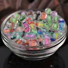 50pcs 8x6mm Faceted Glass Crystal Rondelle Color Inside Loose Spacer Beads