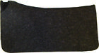 "1/2"" WOOL CONTOURED WESTERN SADDLE PAD LINER BY DIAMOND WOOL PADS"